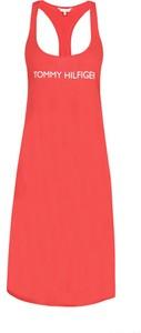 Czerwona sukienka Tommy Hilfiger mini w stylu casual