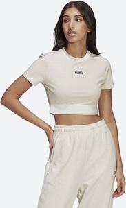 Bluzka Adidas Originals w sportowym stylu z krótkim rękawem z okrągłym dekoltem