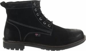 Czarne buty zimowe Roadsign ze skóry
