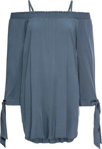 Niebieska tunika bonprix bodyflirt z długim rękawem w stylu casual