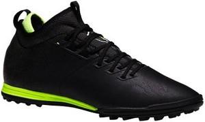 Czarne buty sportowe Kipsta sznurowane w sportowym stylu