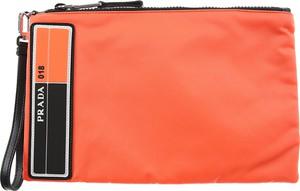 202b5ddac9c8c Pomarańczowy portfel męski Prada