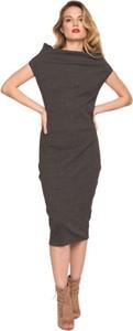 Sukienka CAHA z krótkim rękawem z bawełny ołówkowa