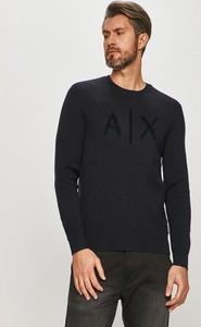 Sweter Armani Exchange z okrągłym dekoltem w stylu casual