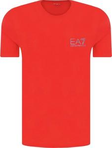 T-shirt EA7 Emporio Armani w stylu casual z krótkim rękawem