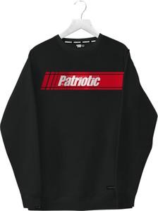 Czarna bluza Patriotic z bawełny