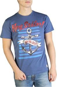 T-shirt Yes Zee z krótkim rękawem z bawełny w młodzieżowym stylu