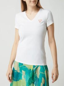 Bluzka Guess z dekoltem w kształcie litery v