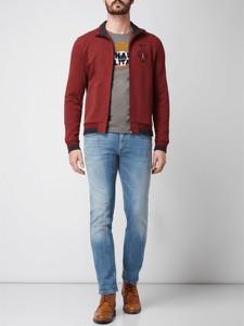 Czerwona bluza Aeronautica Militare z bawełny
