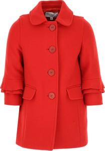 Czerwony płaszcz dziecięcy Simonetta z bawełny