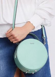 Zielona torebka Rovicky matowa mała na ramię