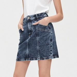 Niebieska spódnica Cropp mini w stylu casual z jeansu