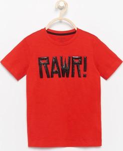 Czerwona koszulka dziecięca Reserved