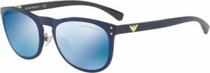 Granatowe okulary damskie Emporio Armani