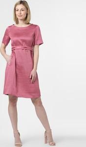 Różowa sukienka MaxMara z jedwabiu z krótkim rękawem