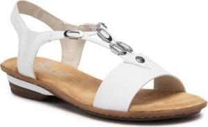 Sandały Rieker z płaską podeszwą z klamrami