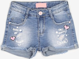 Granatowe spodenki dziecięce born2be z jeansu