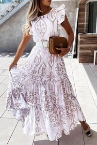 Sukienka IVET z krótkim rękawem
