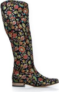 Kozaki Zapato w stylu boho z płaską podeszwą