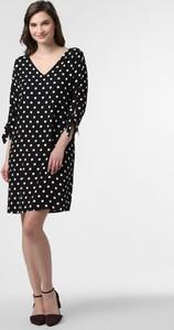 Czarna sukienka Esprit prosta w stylu casual z dekoltem w kształcie litery v