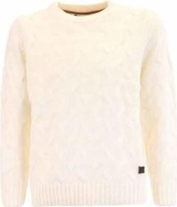 Sweter Yes Zee w stylu casual z okrągłym dekoltem