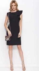 Czarna sukienka Makadamia midi bez rękawów