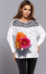 Bluzka Vestiva z okrągłym dekoltem z nadrukiem w stylu casual