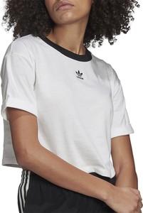 Bluzka Adidas z bawełny z krótkim rękawem