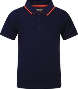 Granatowa koszulka dziecięca Mountain Warehouse z krótkim rękawem dla chłopców z bawełny
