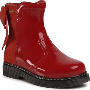 Czerwone buty dziecięce zimowe Lasocki Kids na zamek