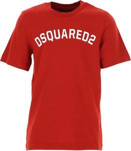 Czerwona koszulka dziecięca Dsquared2 z bawełny