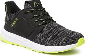 Czarne buty sportowe Kappa z płaską podeszwą