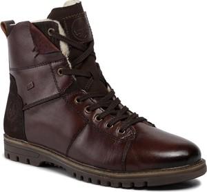 Czerwone buty zimowe Rieker