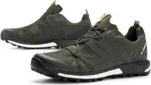 Zielone buty sportowe Adidas z goretexu sznurowane
