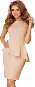 Sukienka NUMOCO z okrągłym dekoltem mini wyszczuplająca