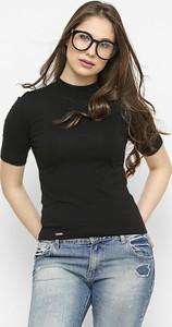 Czarna bluzka Freeshion z okrągłym dekoltem z bawełny