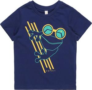 Niebieska koszulka dziecięca Esprit