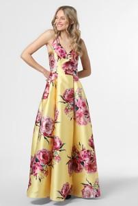Żółta sukienka Vera Mont Collection maxi bez rękawów
