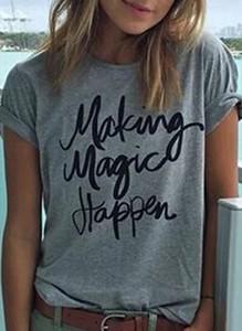 T-shirt Sandbella z krótkim rękawem z okrągłym dekoltem