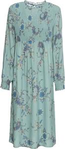 Sukienka bonprix RAINBOW midi z okrągłym dekoltem z długim rękawem