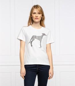 T-shirt Trussardi Jeans z krótkim rękawem z okrągłym dekoltem w młodzieżowym stylu