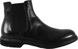 Czarne buty zimowe Crispiniano ze skóry