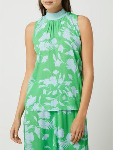 Zielona bluzka Emily van den Bergh bez rękawów