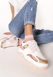 Różowe buty sportowe Multu z płaską podeszwą