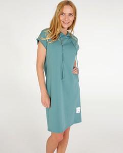 Sukienka Unisono z bawełny z krótkim rękawem