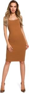 Sukienka MOE z dresówki na ramiączkach midi
