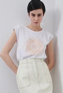 T-shirt Reserved w stylu casual z krótkim rękawem z okrągłym dekoltem