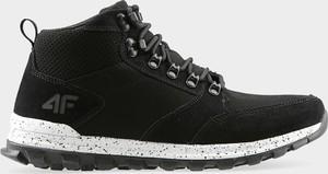 Czarne buty sportowe 4fsklep.pl z zamszu sznurowane