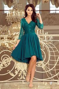 b75573eeea Sukienka Pawelczyk24.pl asymetryczna z dekoltem w kształcie litery v z  długim rękawem