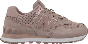 Brązowe buty sportowe New Balance z płaską podeszwą w sportowym stylu